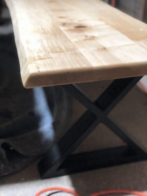 HUDS-ON Basic B live edge bench maple